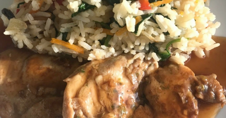 Chinese Chicken & Rice with Stir-fry Vegetables