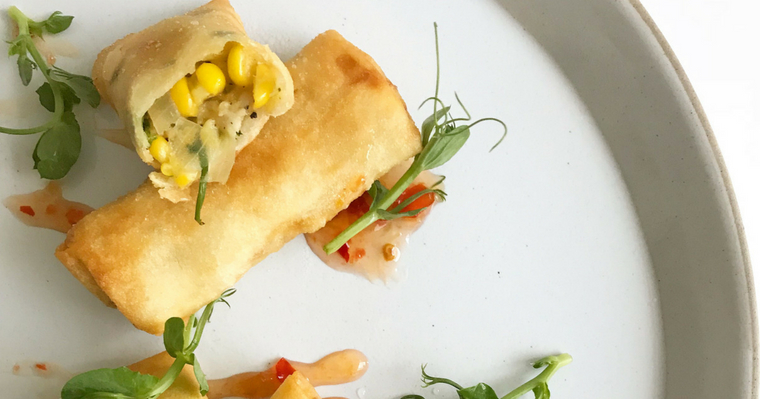 Chicken, Corn & Cheese Springrolls