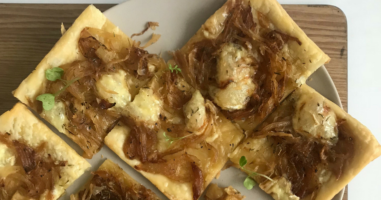 Caramelised Onion Tart with Brie