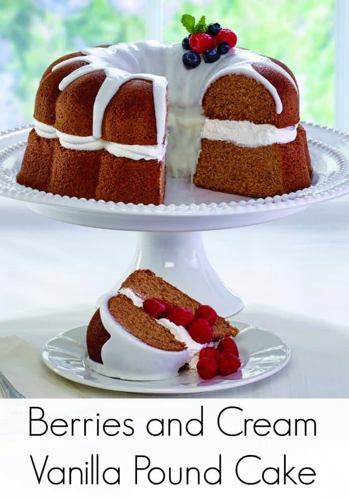 Berries & Cream Vanilla Pound Cake