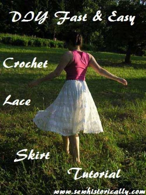 DIY Crochet Lace Skirt