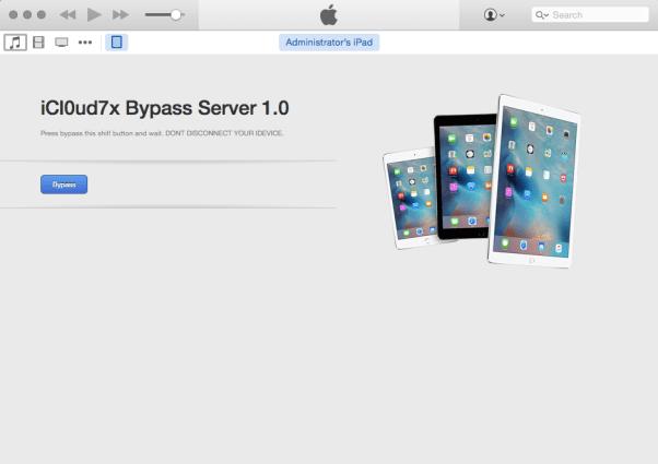 icloud bypass server ios 9