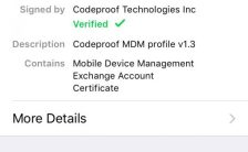 remove mdm profile