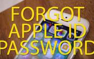 Recover Apple id password