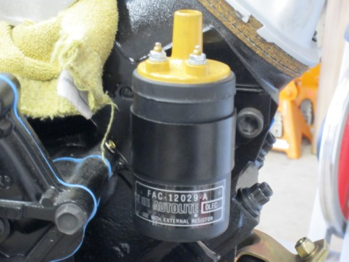 small resolution of i used the ford racing ignition coil bracket from mustangs unlimited dy52 01