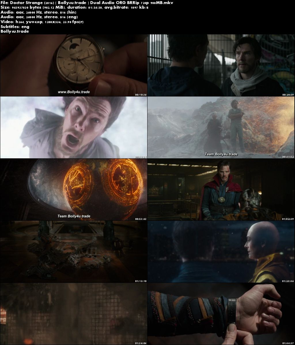 Doctor Strange 2016 BluRay 900MB Hindi Dual Audio ORG 720p ESub Download
