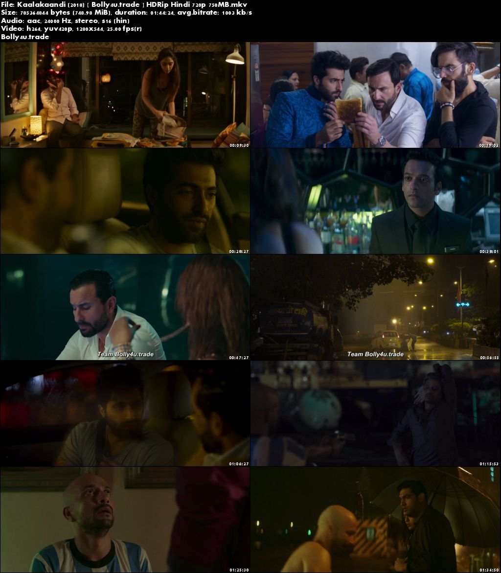 Kaalakaandi 2018 HDRip 750Mb Full Hindi Movie Download 720p