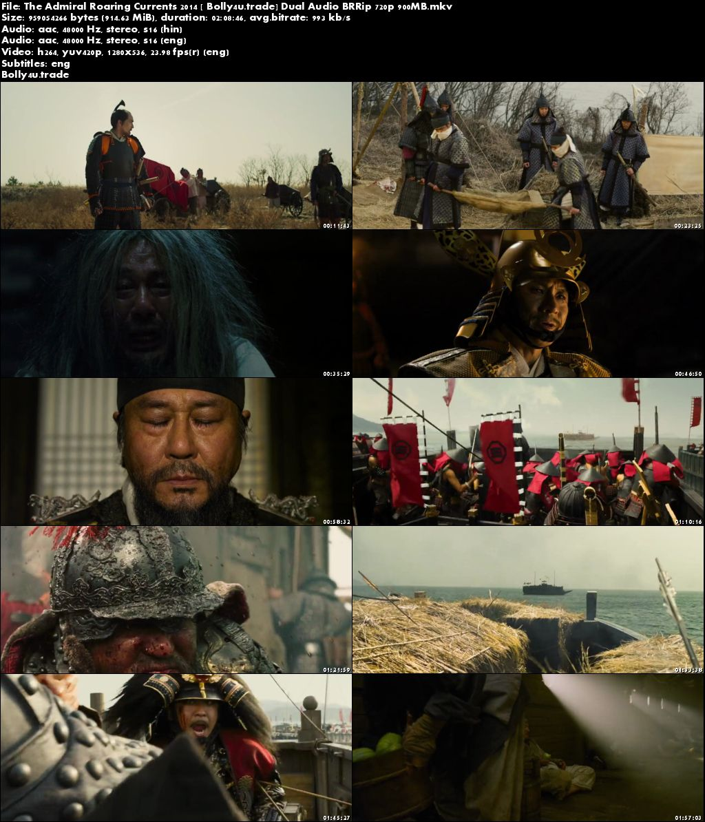 The Admiral Roaring Currents 2014 BRRip 400MB Hindi Dual Audio 480p Download