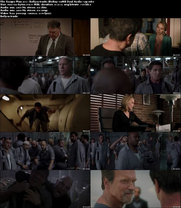 Escape Plan 2013 BluRay 350MB Hindi Dubbed Dual Audio 480p Download