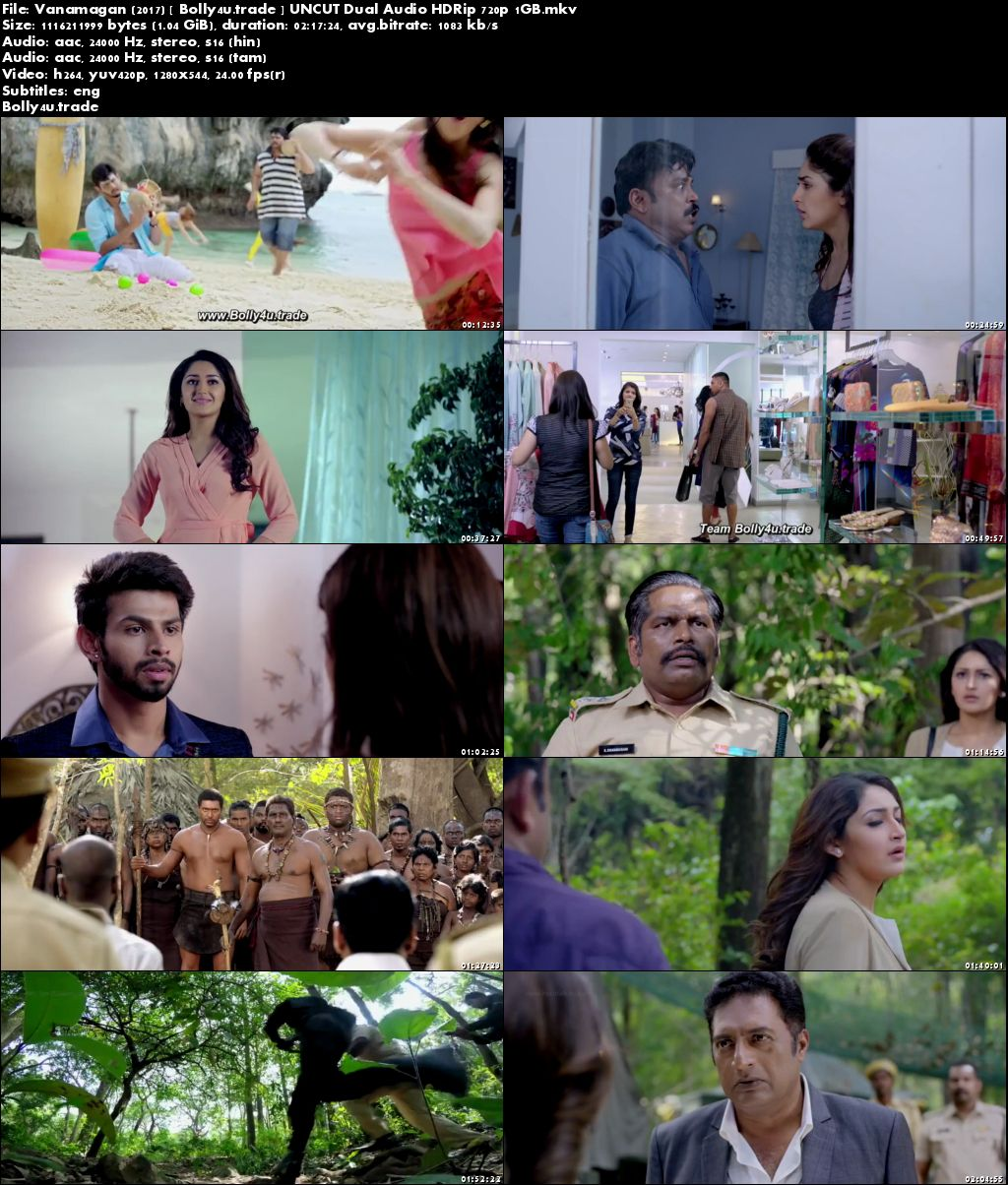 Vanamagan 2017 HDRip 1Gb UNCUT Hindi Dubbed Dual Audio 720p Download