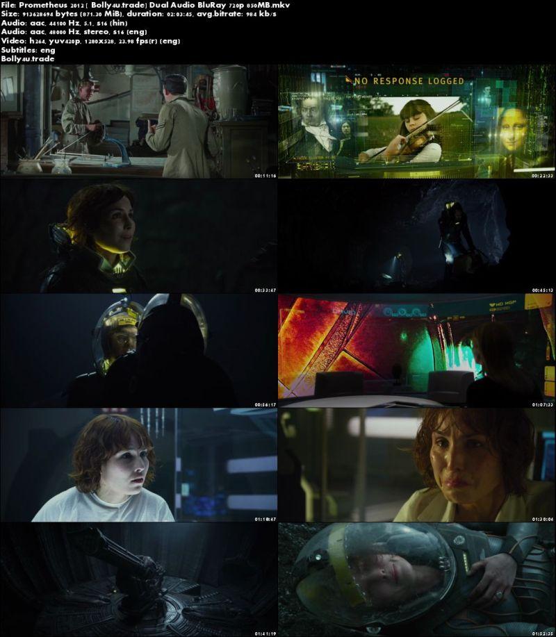 Prometheus 2012 BluRay 850Mb Hindi Dual Audio 720p Download