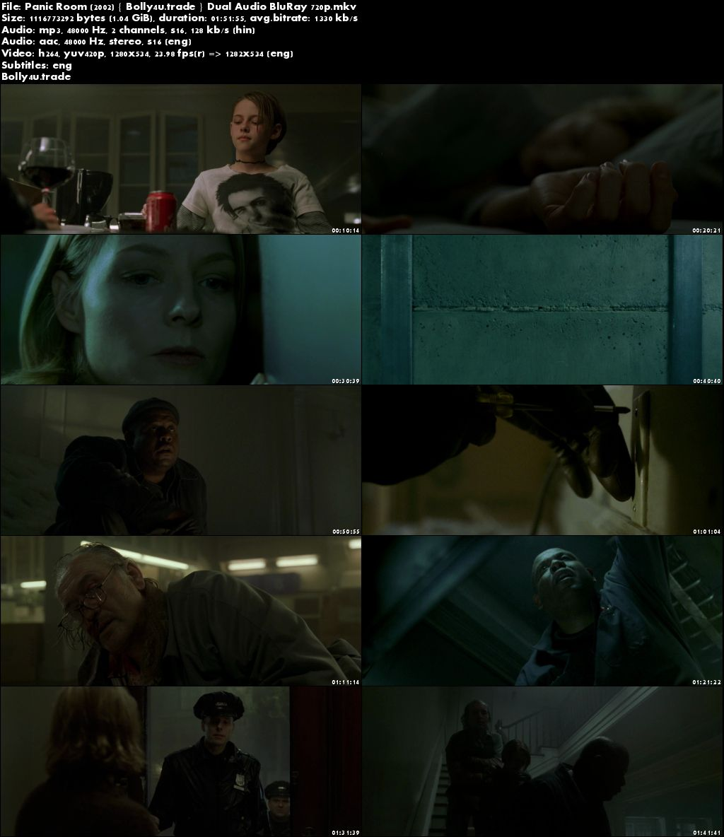 Panic Room 2002 BluRay 350MB Full Hindi Dual Audio Movie Download 480p