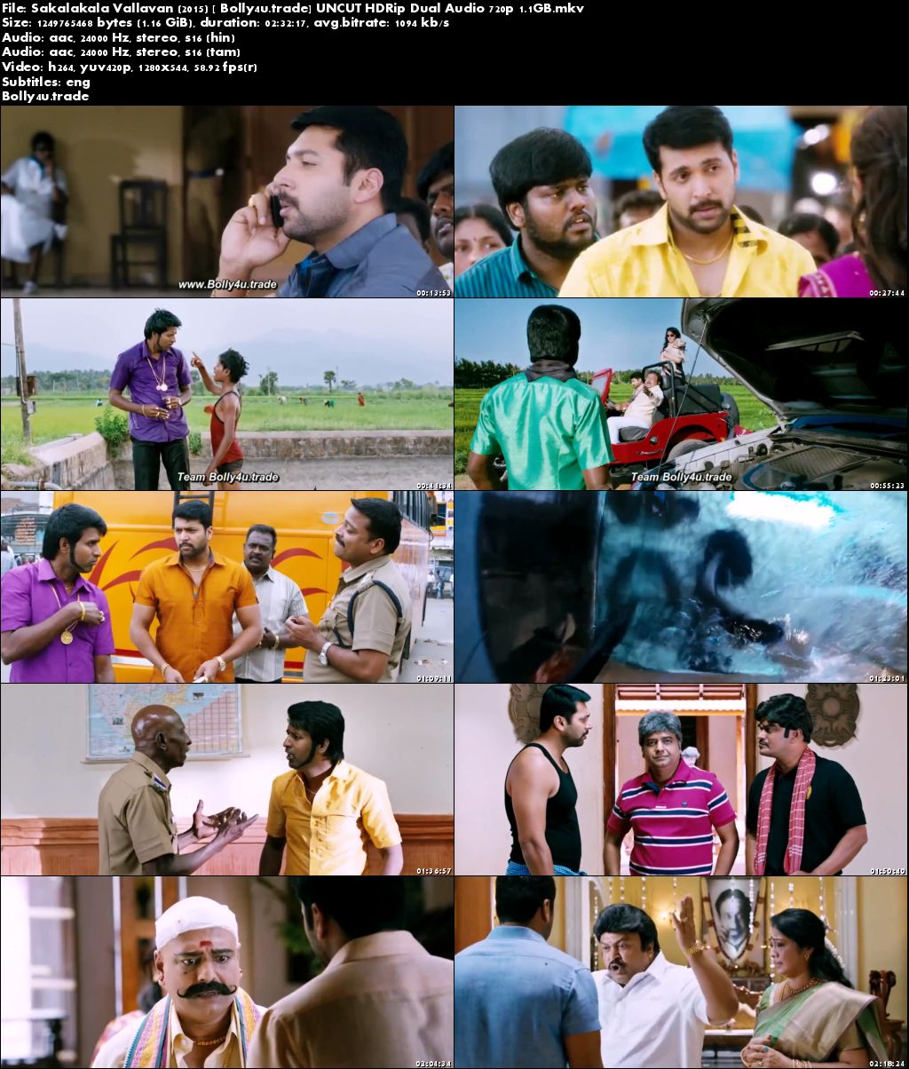 Sakalakala Vallavan 2015 HDRip UNCUT Hindi Dual Audio 720p Download
