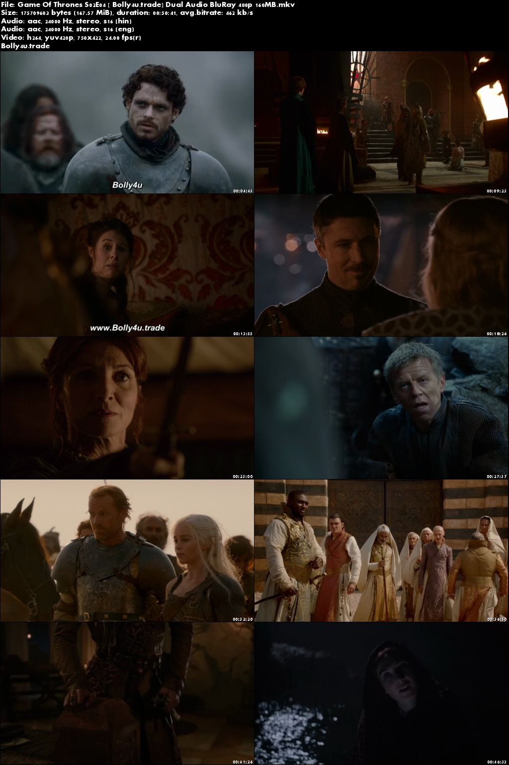 Game Of Thrones S02E04 BluRay 160Mb Hindi Dual Audio 480p Download