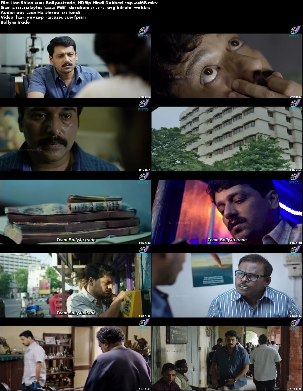 Lion Shiva 2018 HDRip 650MB Full Hindi Dubbed Movie Download 720p