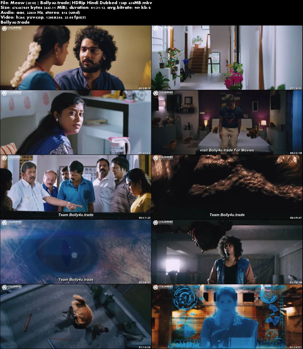 Meow 2018 HDRip 650Mb Full Hindi Dubbed Movie Download 720p