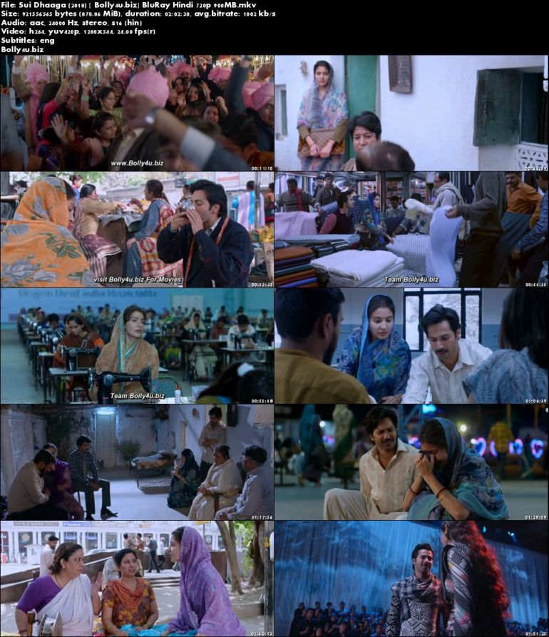 Sui Dhaaga 2018 BluRay 350MB Full Hindi Movie Download 480p ESub
