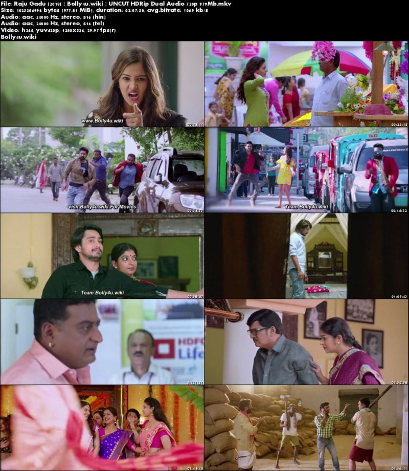 Raju Gadu 2018 HDRip 400Mb UNCUT Hindi Dual Audio 480p Download