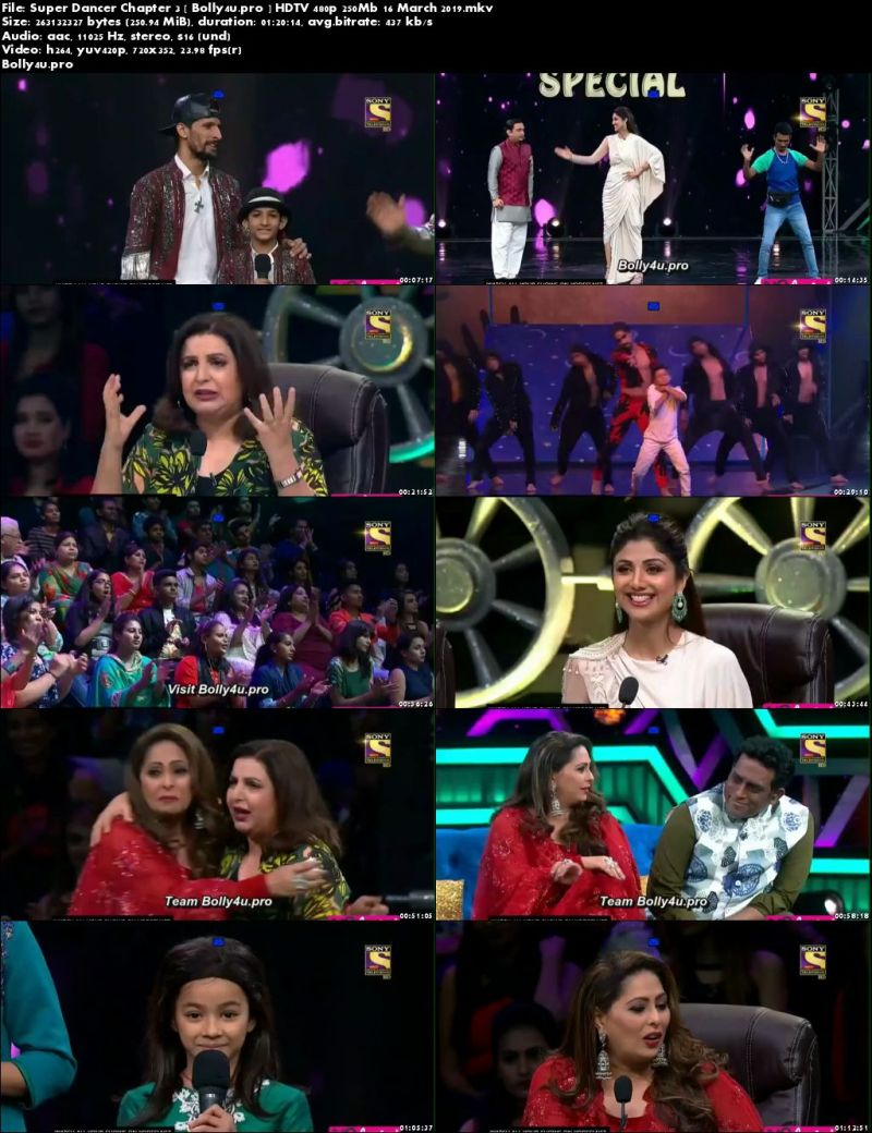 Super Dancer Chapter 3 HDTV 480p 250Mb 16 March 2019 Download