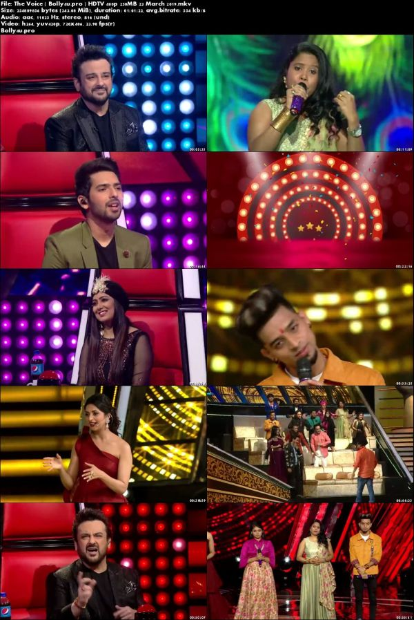 The Voice HDTV 480p 250MB 23 March 2019 Download
