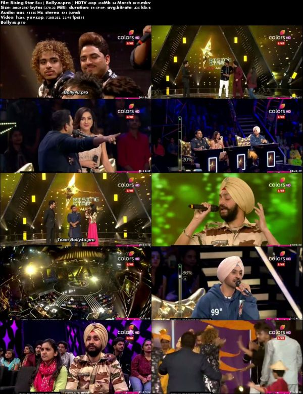 Rising Star S03 HDTV 480p 350Mb 24 March 2019 Download
