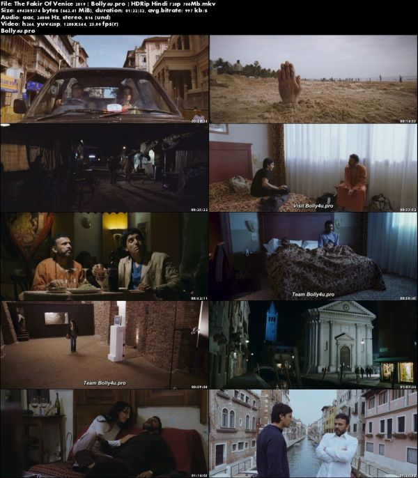 The Fakir Of Venice 2019 HDRip 700Mb Full Hindi Movie Download 720p