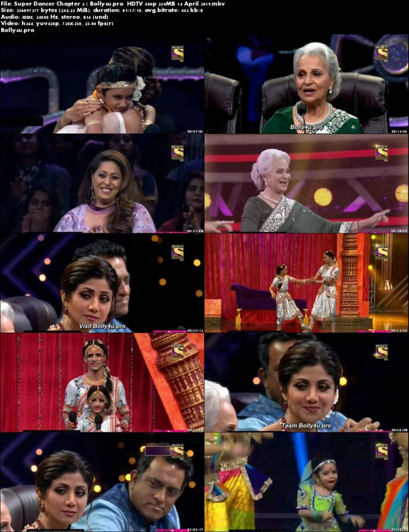 Super Dancer Chapter 3 HDTV 480p 250MB 14 April 2019 Download