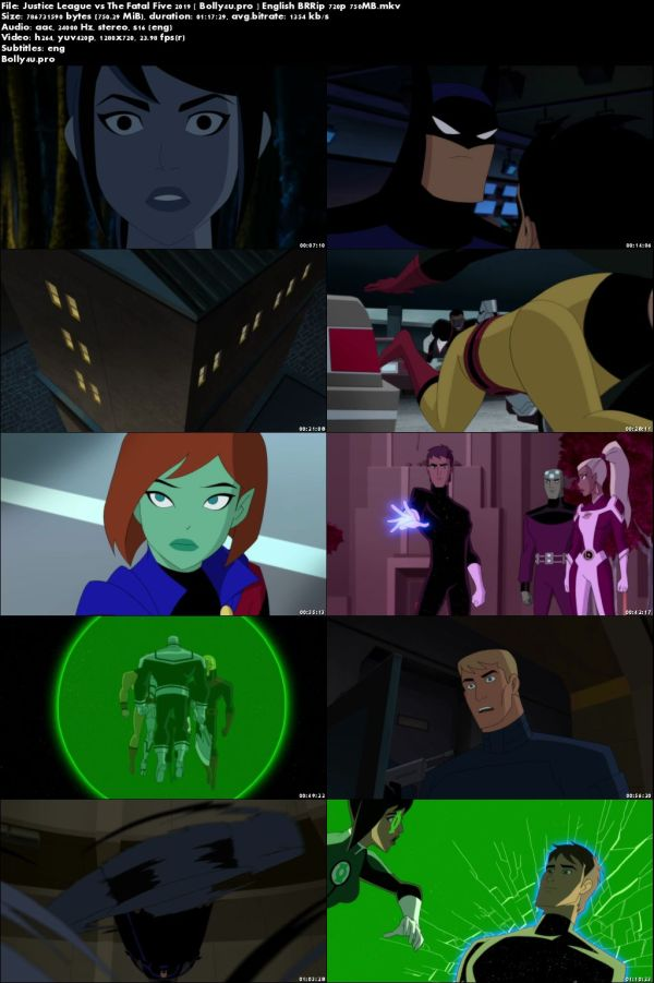 Justice League vs The Fatal Five 2019 BRRip 750MB English 720p ESub Download