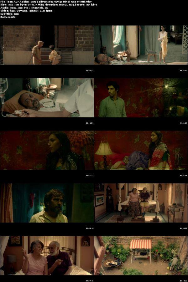 Teen Aur Aadha 2019 HDRip 999MB Hindi 720p Download