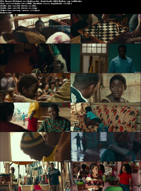 Queen Of Katwe 2016 BluRay 400Mb Hindi Dual Audio ORG 480p Download