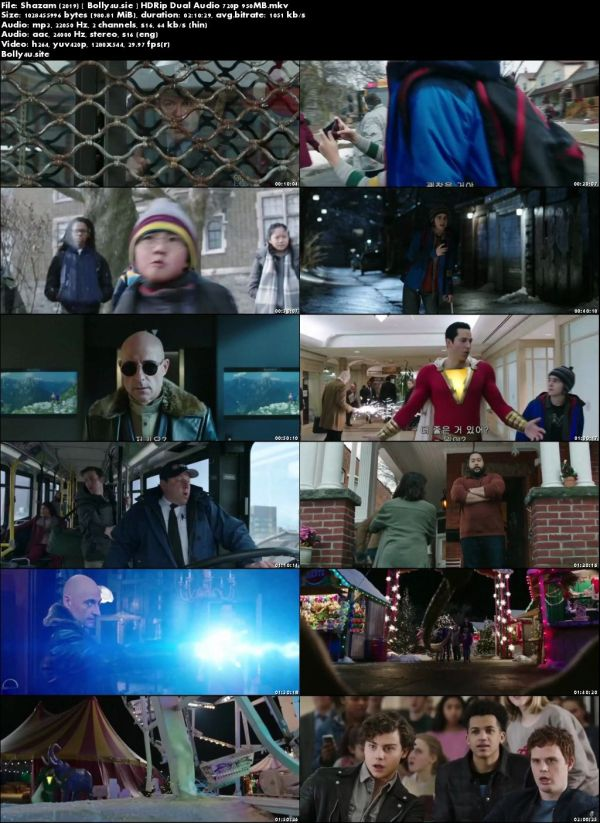 Shazam 2019 HC HDRip 950MB Hindi Dual Audio 720p Download