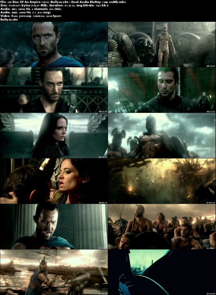 300 Rise Of An Empire 2014 BluRay 300MB Hindi Dual Audio 480p Download