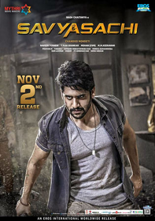 Savyasachi 2019 HDRip 350MB Hindi Dubbed 480p Watch Online Full Movie Download Bolly4u