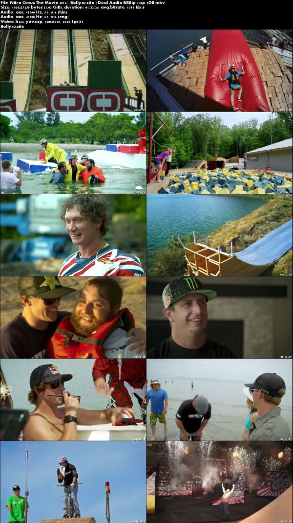 Nitro Circus The Movie 2012 BRRip 350MB Hindi Dual Audio 480p download