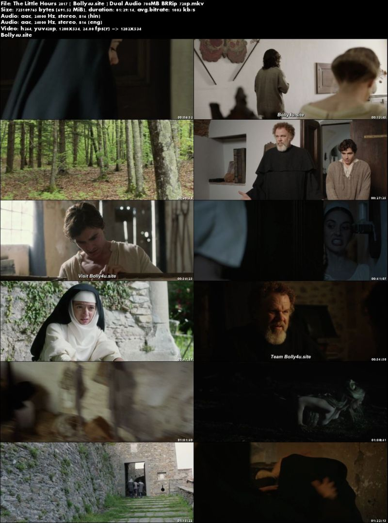 The Little Hours 2017 BRRip 700Mb Hindi Dual Audio 720p Download