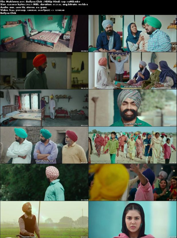Muklawa 2019 HDRip 300Mb Punjabi 480p Download