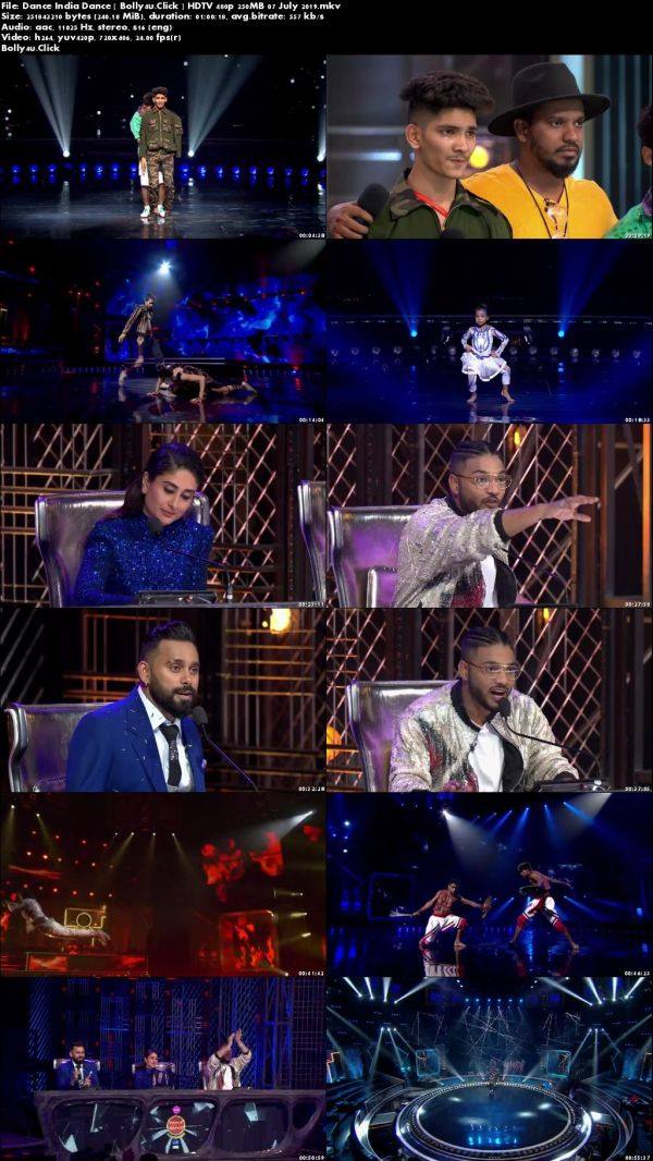 Dance India Dance HDTV 480p 250MB 07 July 2019 download