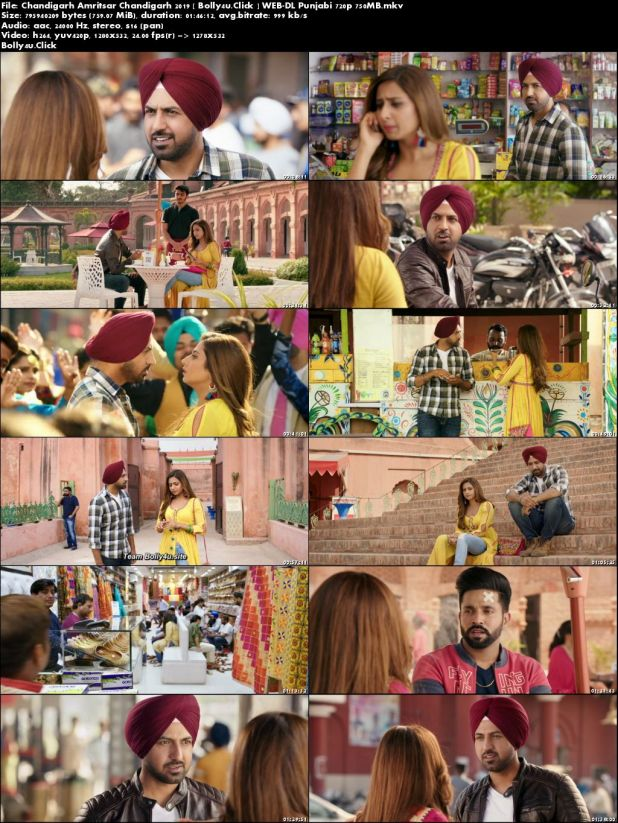 Chandigarh Amritsar Chandigarh 2019 WEB-DL 750MB Punjabi 720p Download