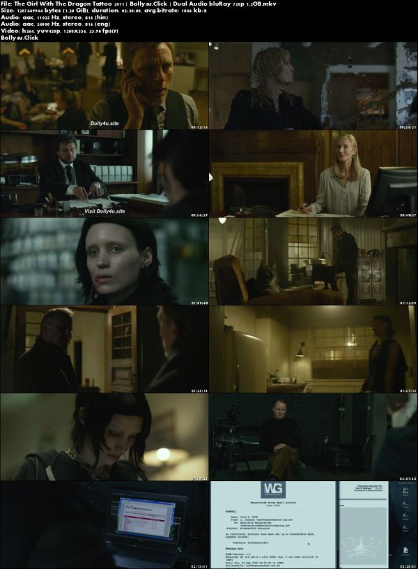 The Girl With The Dragon Tattoo 2011 BRRip Hindi Dual Audio 720p Download