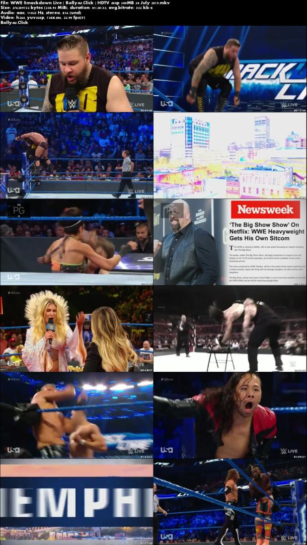 WWE Smackdown Live HDTV 480p 300MB 30 July 2019 Download