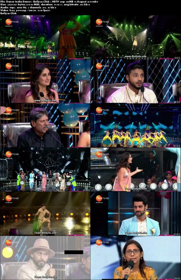 Dance India Dance HDTV 480p 200MB 10 August 2019 Download