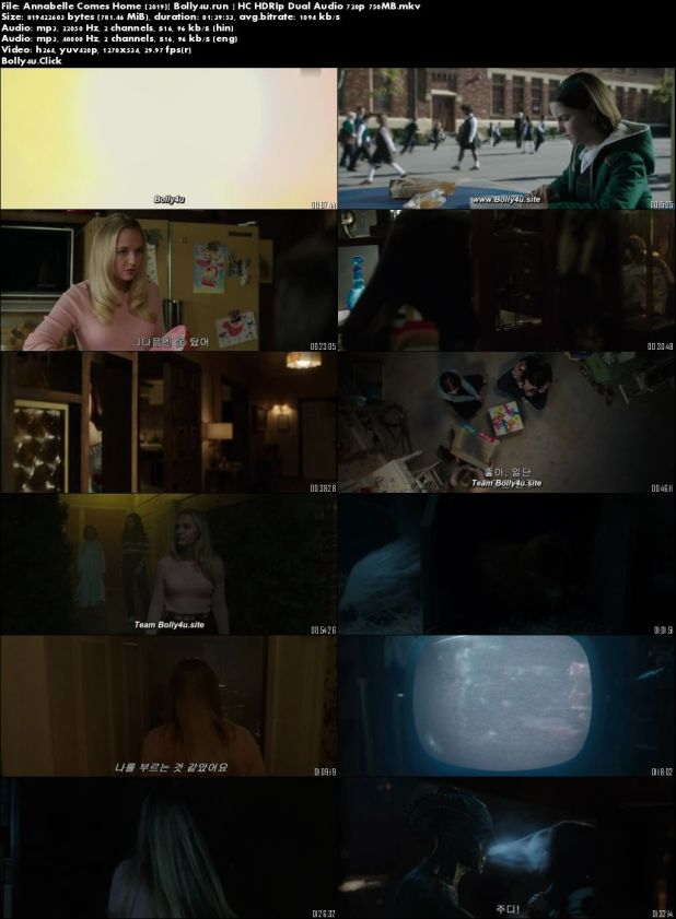 Annabelle Comes Home 2019 HC HDRip 300MB Hindi Dual Audio 480p Download