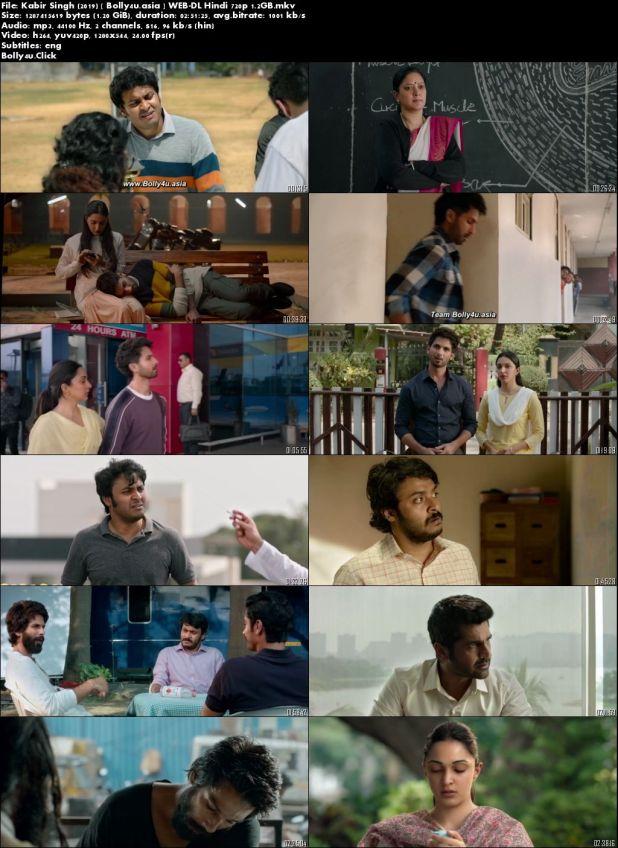 Kabir Singh 2019 WEB-DL 500MB Full Hindi Movie Download 480p ESub