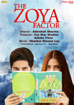 The Zoya Factor 2019 Pre DVDRip 300Mb Full Hindi Movie Download 480p watch Online Free bolly4u