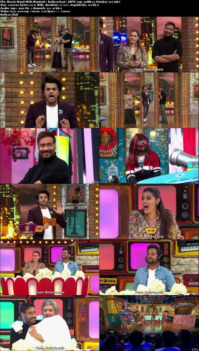 Movie Masti With Maniesh Paul HDTV 480p 200Mb 06 October 2019 Download