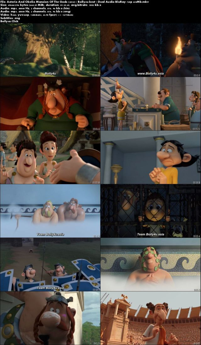 Asterix And Obelix Mansion Of The Gods 2014 BRRip 650Mb Hindi Dual Audio 720p Download