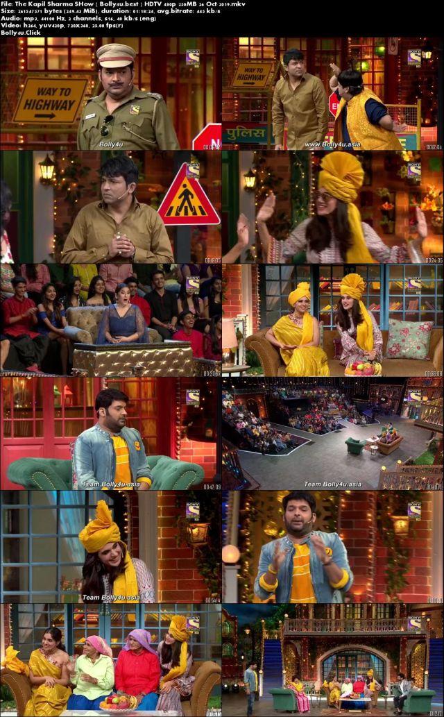 The Kapil Sharma Show HDTV 480p 250MB 26 Oct 2019 Download