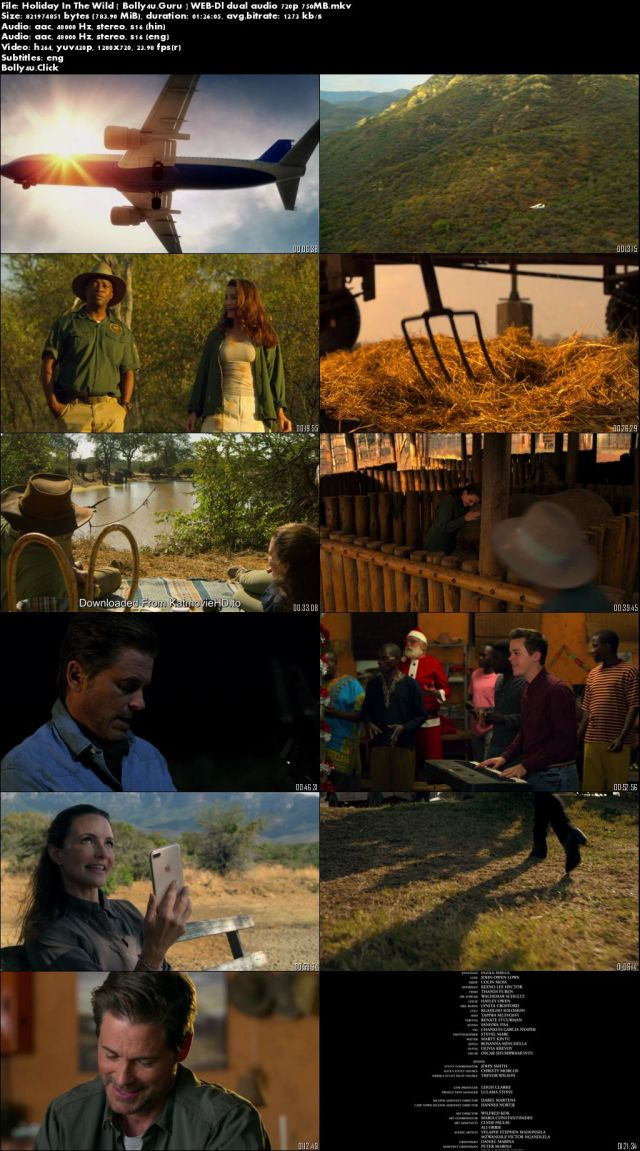 Holiday In The Wild 2019 WEB-DL 750Mb Hindi Dual Audio 720p Download