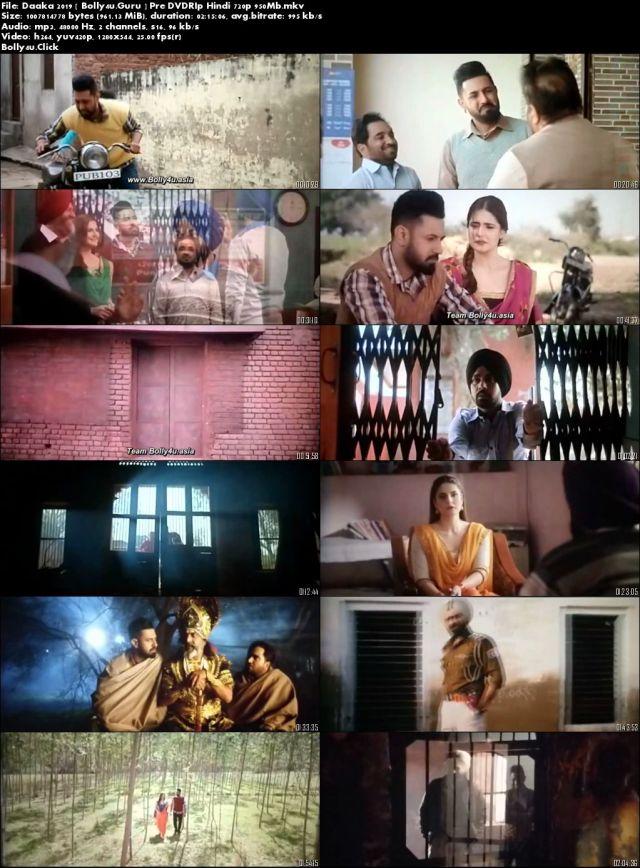 Daaka 2019 Pre DVDRip 400MB Punjabi 480p Download