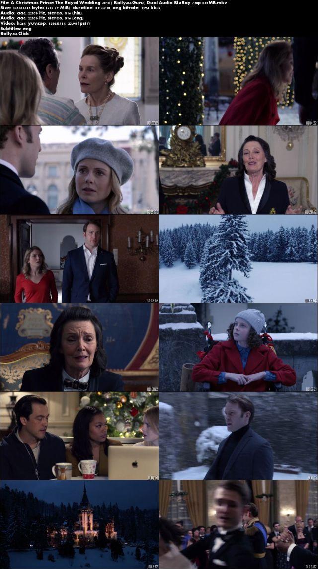 A Christmas Prince The Royal Wedding 2018 BluRay 800Mb Hindi Dual Audio 720p Download